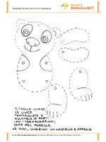 Pregrafismo cartamodello del panda