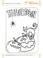 Halloween Zucche e Gatto