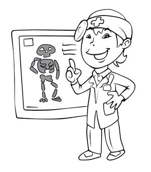Dottore con Radiografie