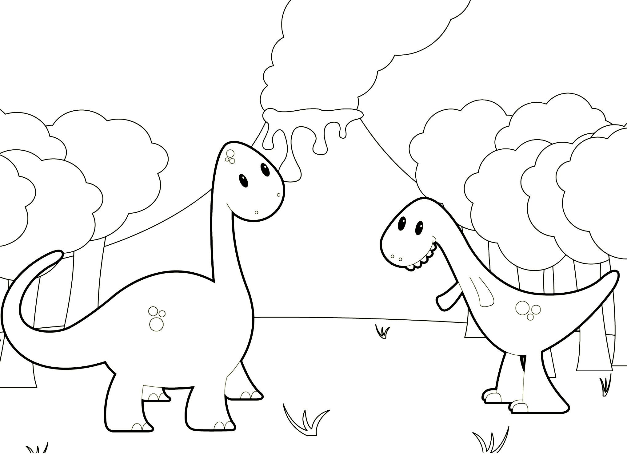Dinosauri nel bosco