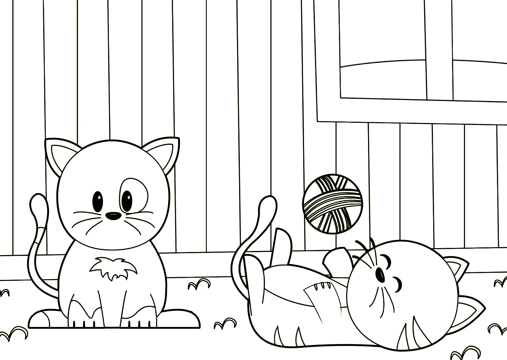 Gattini con Gomitolo