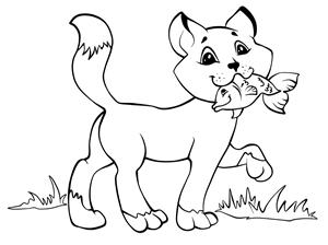 Gatto con Pesce