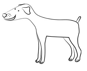 Cane Stilizzato