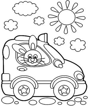 Coniglietto in Auto