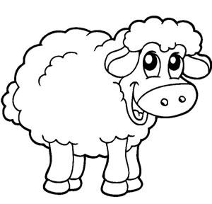 Pecora for Maialino disegno per bambini