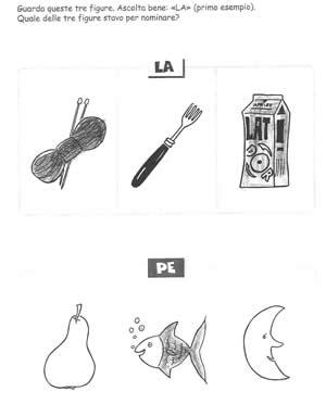 Fonologia sillaba LA e PE