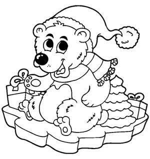 Orso festeggia Natale
