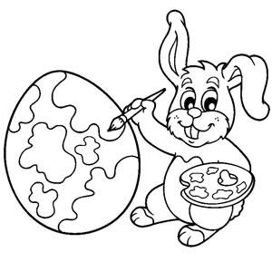 Coniglio pittura uovo