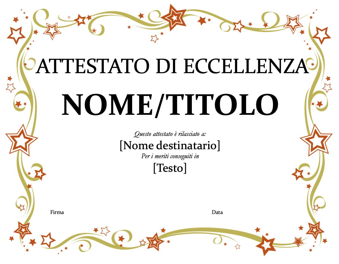 Attestato Allegro