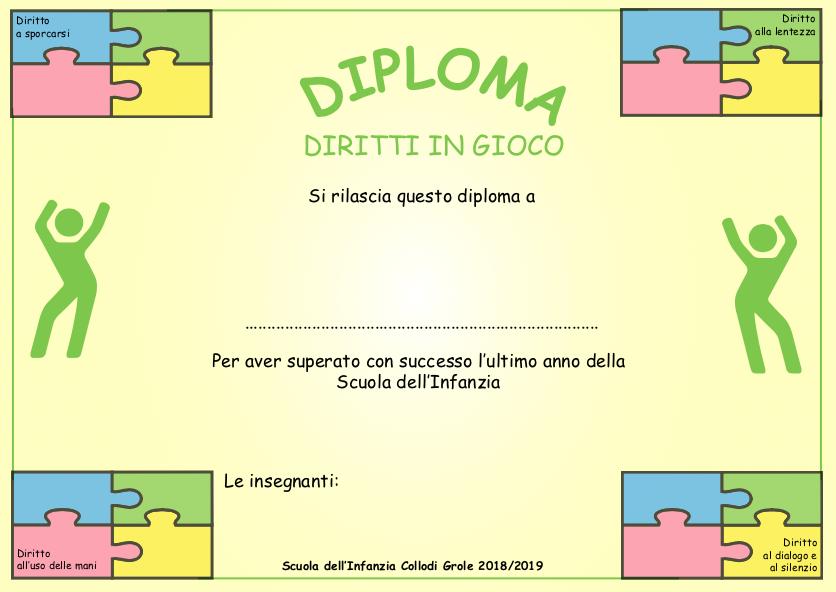 Diploma Diritti n Gioco