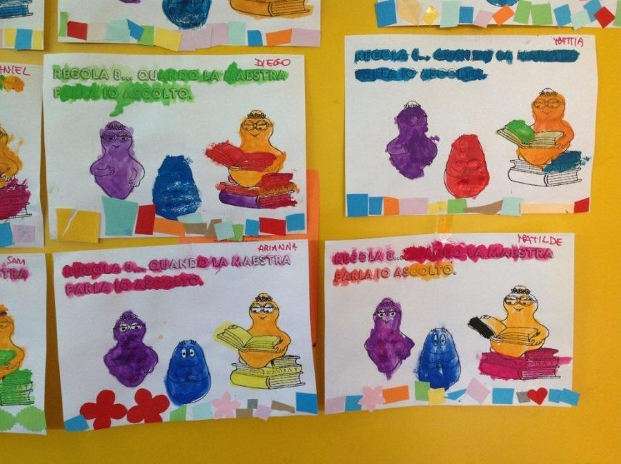 Scuola dell 39 infanzia lavoretti per le regole for Lavoretti accoglienza infanzia